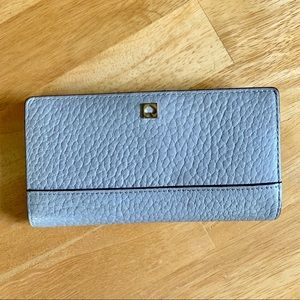 Kate Spade Light Gray and Pink Wallet